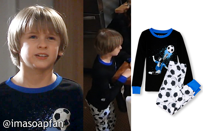 Jake Spencer, Hudson West, Soccer Print Pajamas, The Children's Place, GH, General Hospital