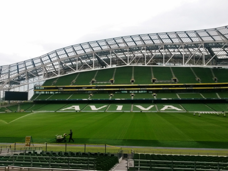Aviva Stadium Dublin. Tour of Ireland