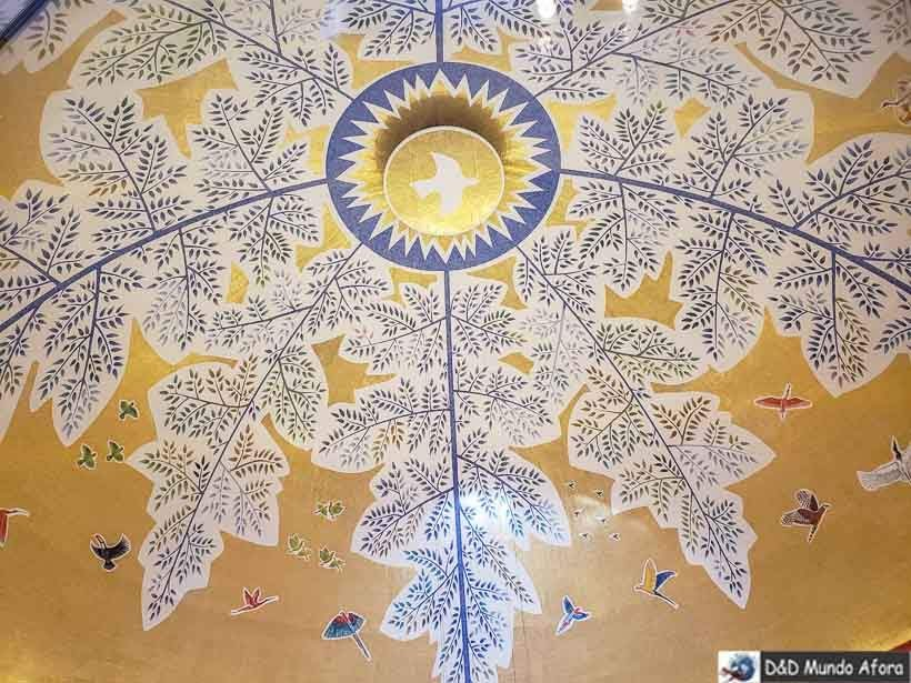 Teto do Santuário visto do alto da Cúpula - Santuário Nacional de Aparecida