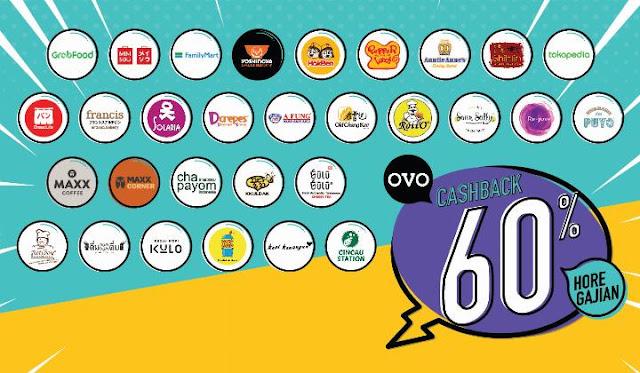 #OVO - #Promo OVO Hore GAJIAN Dapatkan Cashback 60% di Merchant & Marketplace (s.d 03 Mar 2019)