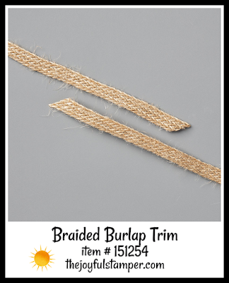 Stampin' Up! Braided Burlap Trim | Nicole Steele The Joyful Stamper