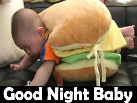 Cute Baby Good Night Funny Image