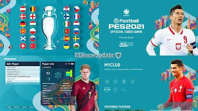 PES 2021 Menu Mod EURO 2020 by PESNewupdate