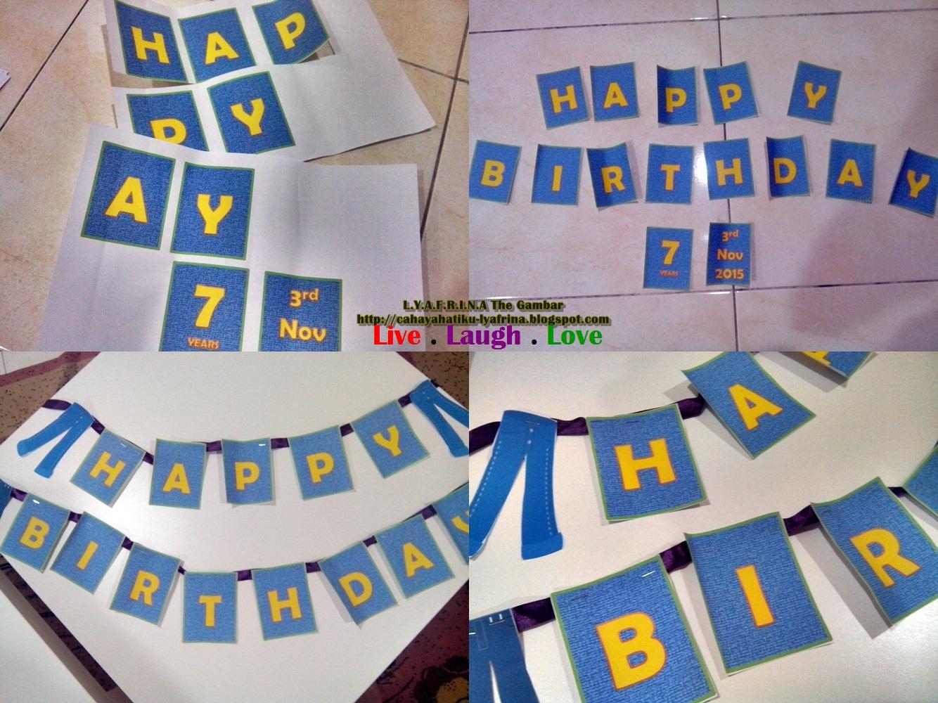 Lya Afrina D I Y Cara Hias Belon Harijadi Simple Birthday