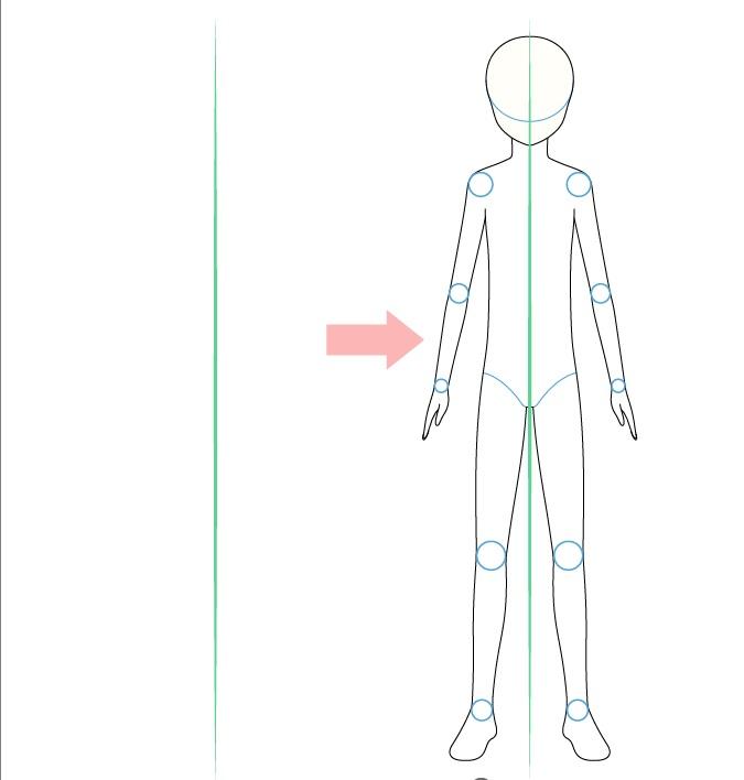 Gambar tampilan depan tubuh anak anime