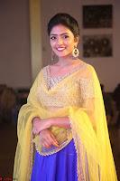 Actress Eesha in Yellow Choli Blue Ghagra at Darshakudu music launch 048.JPG