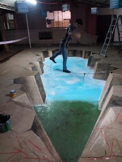 3D street painter St. Peteserburg, 3D street Artist Dubai, 3D street Arist India