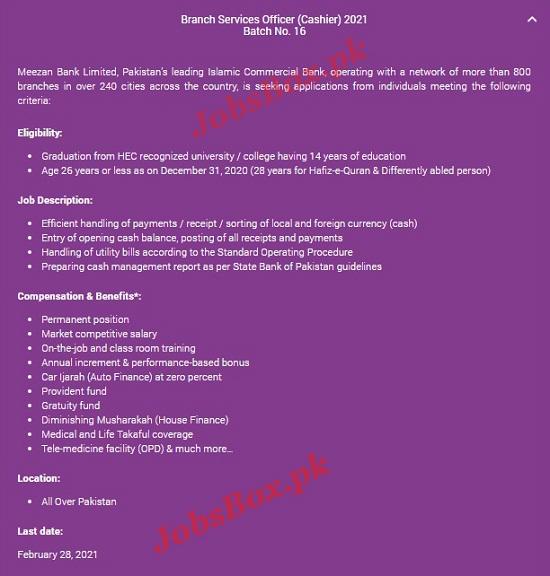 meezan-bank-cashier-jobs-2021-in-all-over-pakistan-apply-online