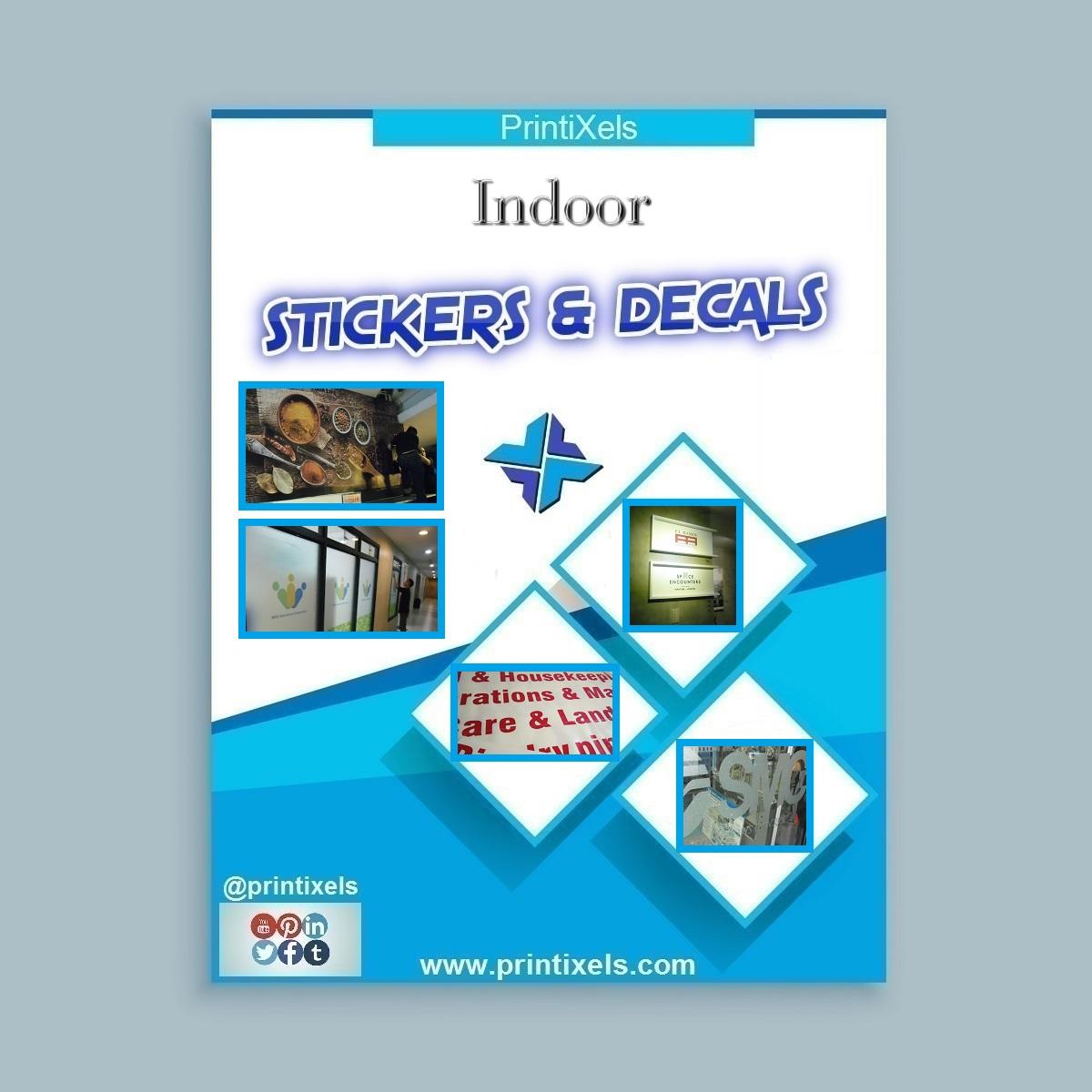 Customized Indoor Stickers & Decals