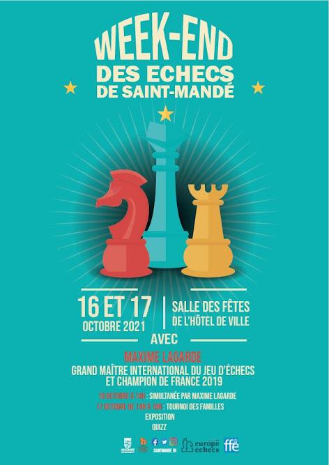 Week-end des échecs à Saint-Mandé 16 et 17 octobre