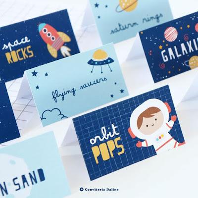Plaquinhas - Festa Astronautas