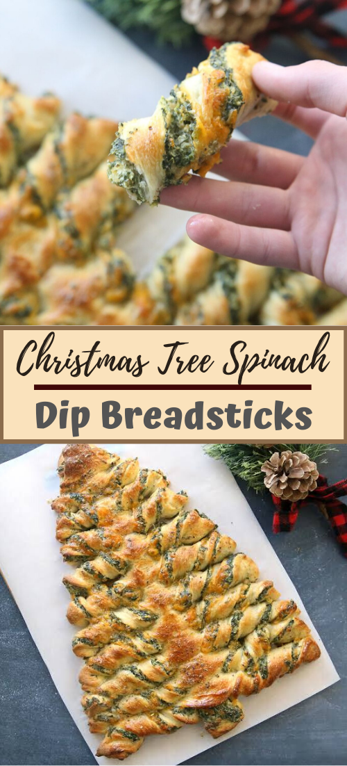 Christmas Tree Spinach Dip Breadsticks #dinnerrecipe #food #amazingrecipe #easyrecipe