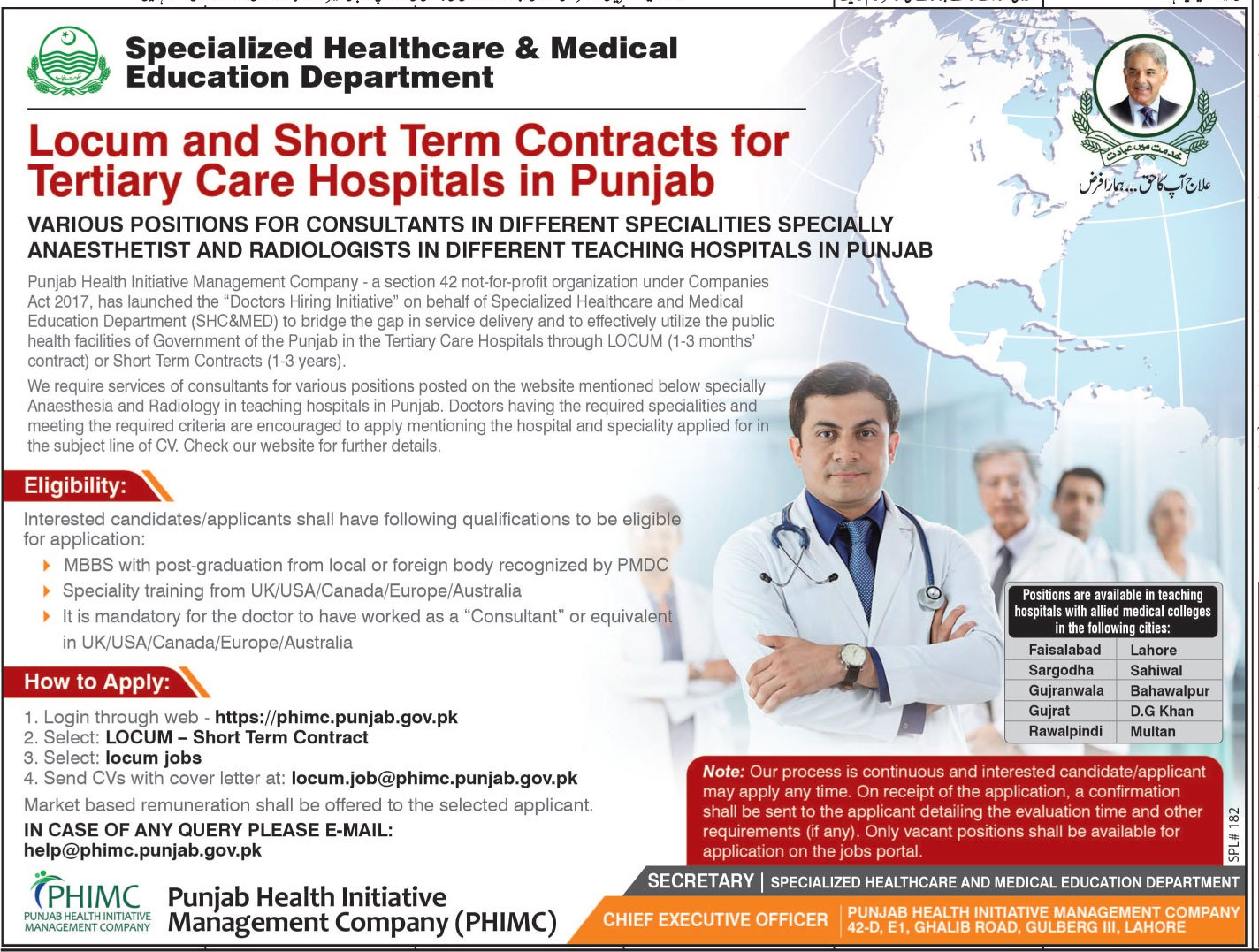 Jobs In Punjab Health Initiative Management Company January 2018