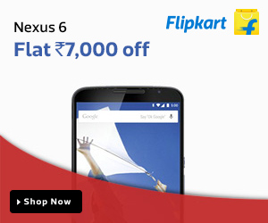 Nexus 6 - Flat Rs. 7000 off