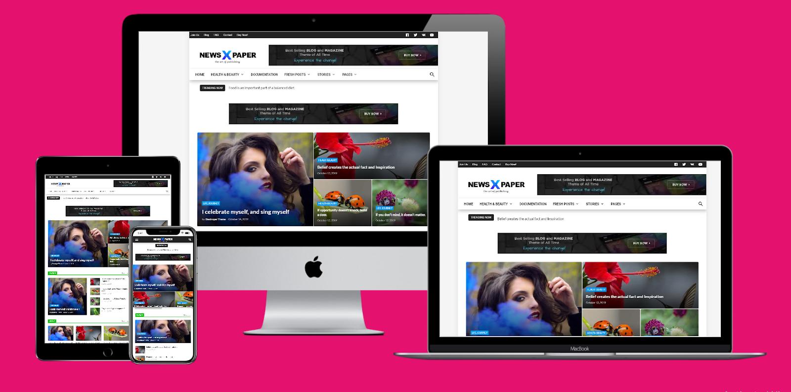 NewsPaper X Premium Responsive Blogger Template