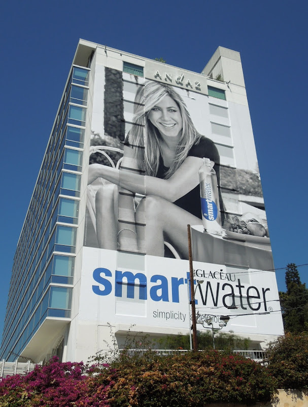 Jennifer Aniston Smart Water billboard