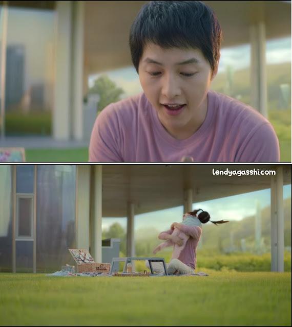 Song Joong Ki sebagai Ayah Kim Tae Ho : Review Film Space Sweeper