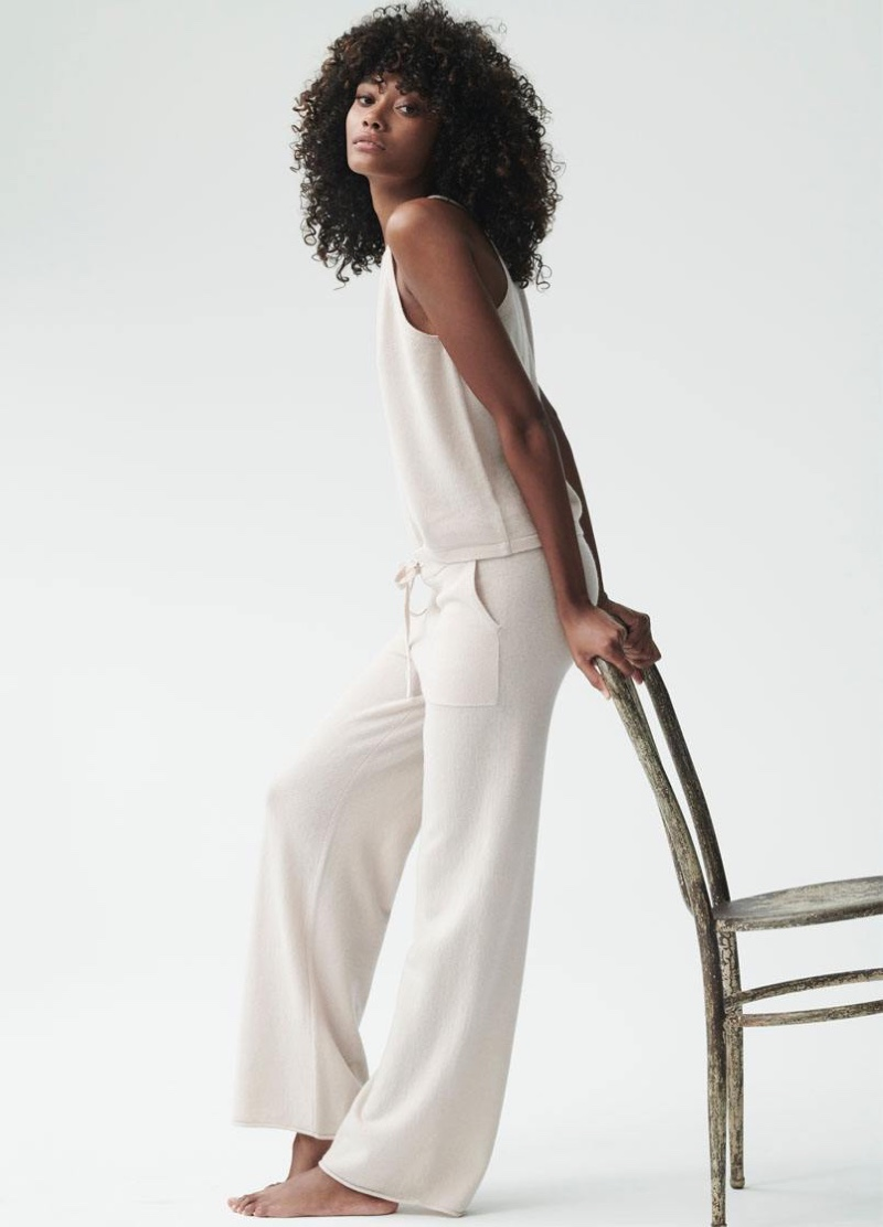 Chey Carty looks cozy in Naked Cashmere spring-summer 2020 campaign