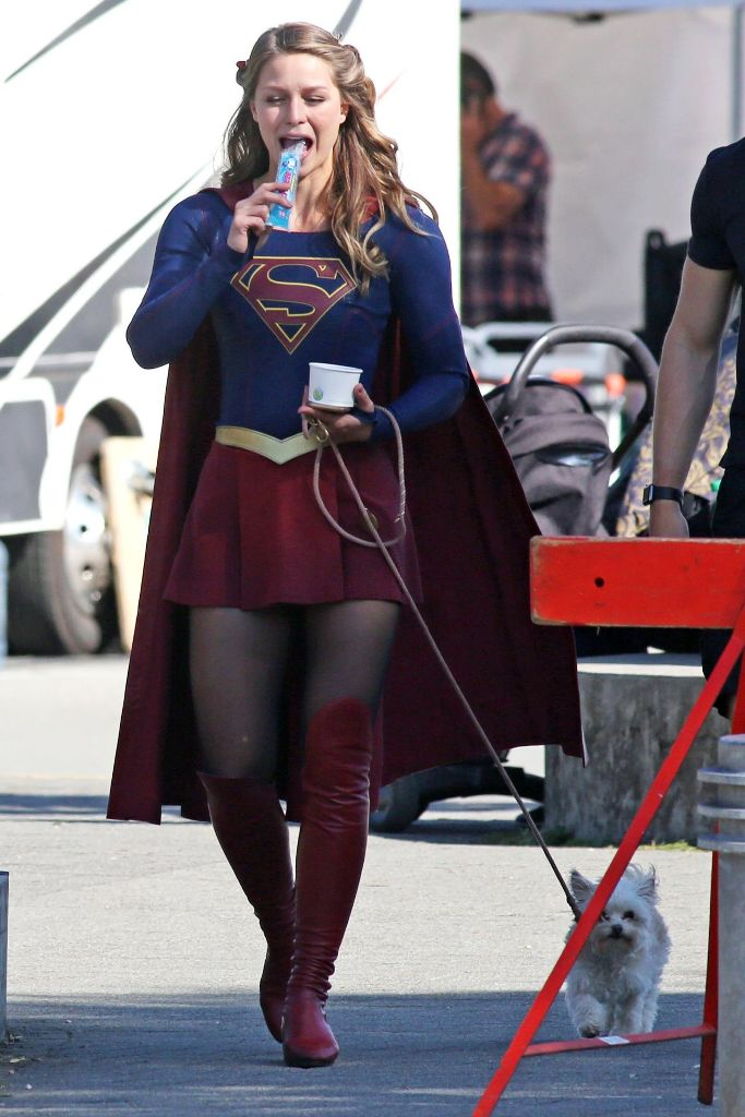 Melissa Benoist Supergirl Set in Vancouver