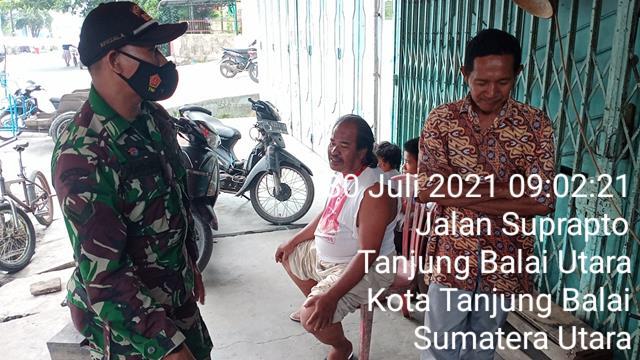 Jalin Komunikasi Sosial Bersama Dengan Masyarakat Dilakukan Personel Jajaran Kodim 0208/Asahan Diwilayah Binaan