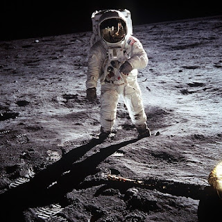 First on the moon was Buzz Aldrin