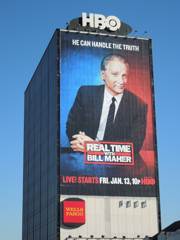 Giant Real Time Bill Maher TV billboard