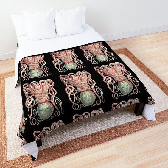 Ośmiornica do sypialni w dekorze