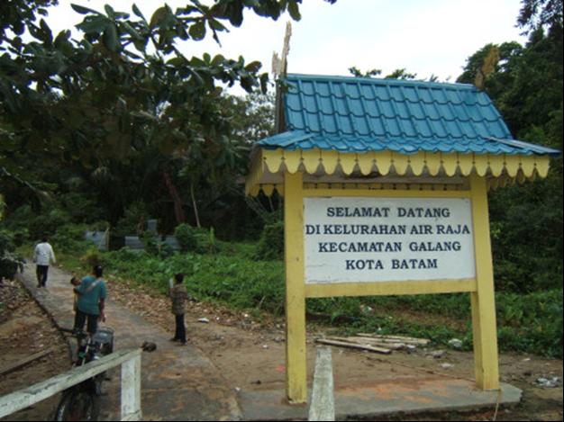 Papan Selamat Datang Pulau Air Raja sumber imbalo.wordpress.com