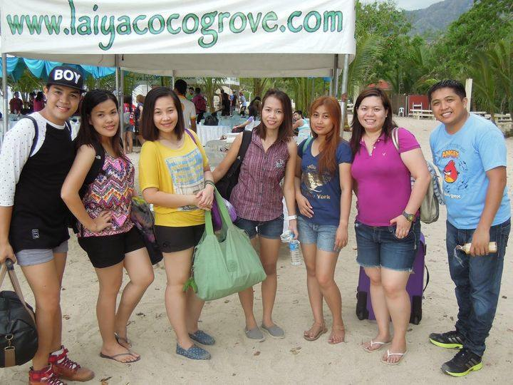 Team photo at Laiya Coco Grove Beach Resort