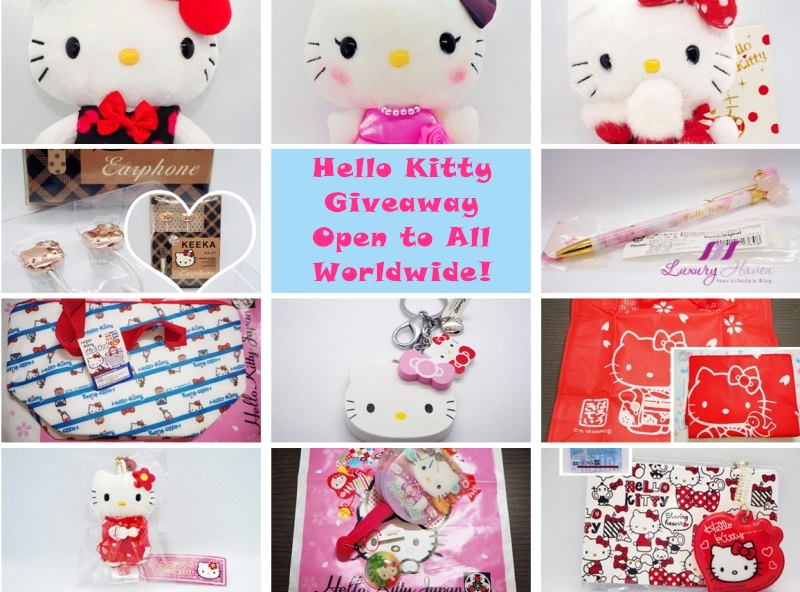 luxury haven singapore lifestyle influencer hello kitty giveaway