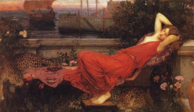 Ariadna abandonada, John William Waterhouse