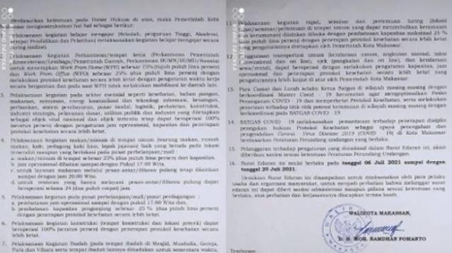 Viral Surat Edaran PPKM Makassar, Ibadah Ditiadakan Tapi Klub Malam Tetap Buka