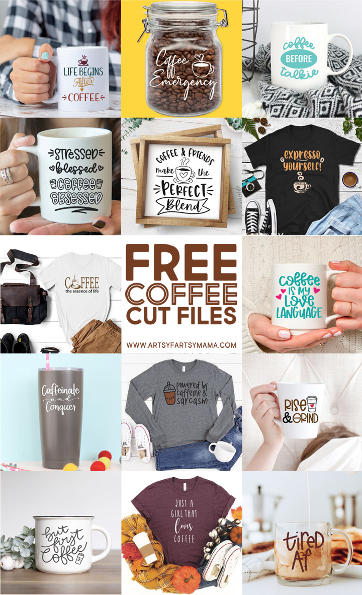14 FREE Coffee SVG Cut Files