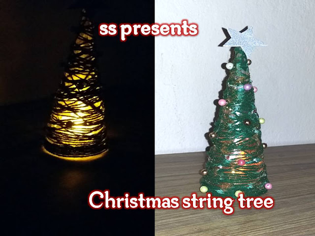 Here is Images for Christmas String Tree,thread christmas tree,how to make a string cone christmas tree,ornament hanging string,how to make string balls with fabric stiffener,twine balls wedding,Images for yarn christmas crafts,How to make String Christmas Tree making video