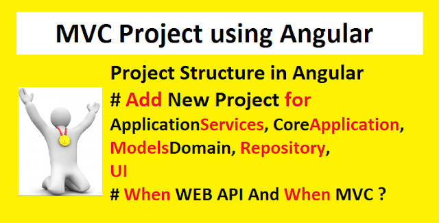 MVC Project using angular   Project Structure in Angular