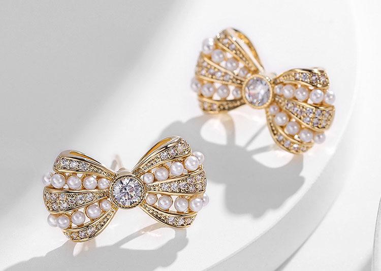 甜美超立體擬珍珠蝴蝶結