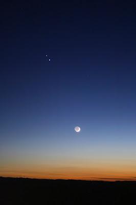 Saturn, Júpiter i la Lluna des de Bufalvent (Manresa)  - 16/12/2020