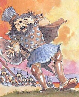 Golia colpito e abbattuto
