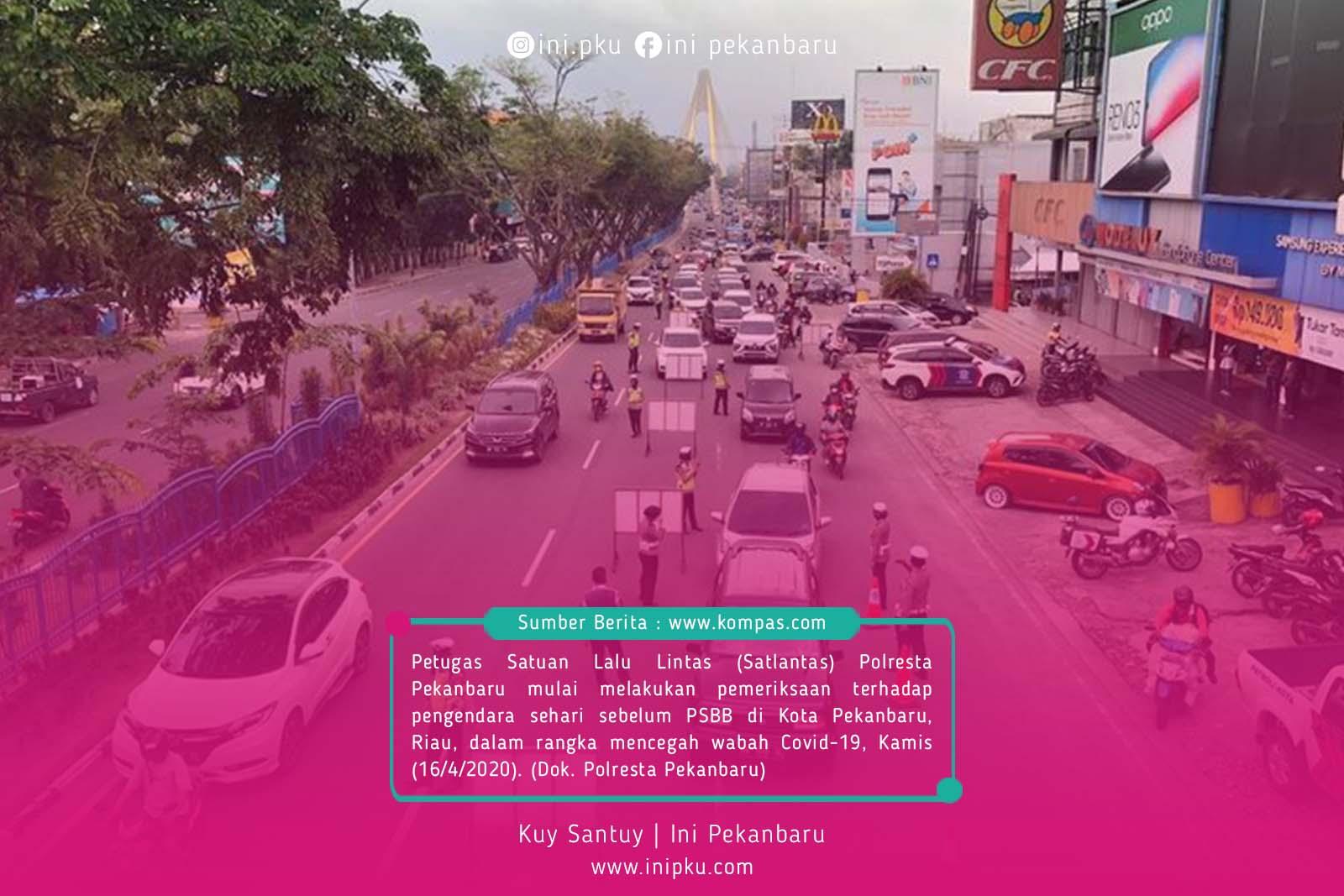 Petugas Satuan Lalu Lintas (Satlantas) Polresta Pekanbaru
