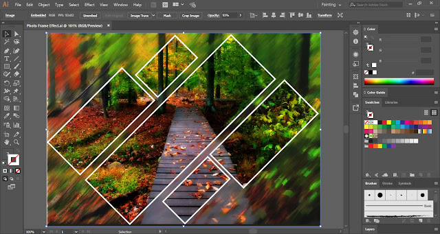 Photo Frame Effect in Adobe Illustrator