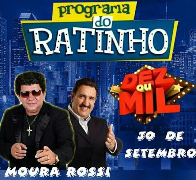 Cantor Limoeirense, Moura Rossi, participará do programa do Ratinho no quadro Dez ou Mil