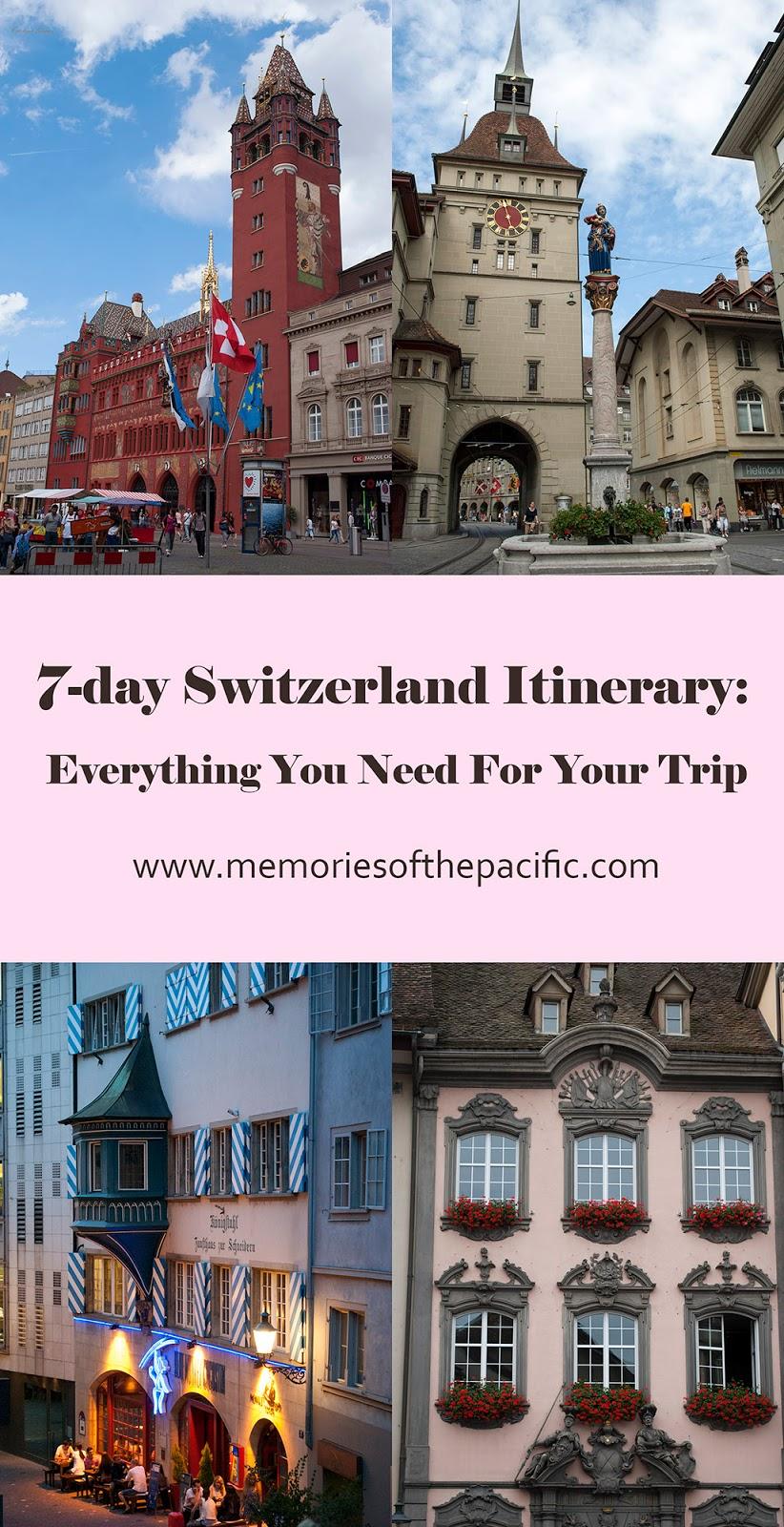 switzerland cities destinations