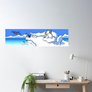 Bored Yeti Large Poster by TET Available on RedBubble.