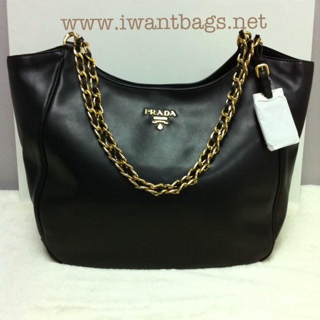 16dbcbf4d26d49 I Want Bags backup: Prada BR4995 Soft Calf Shopping Bag- Nero