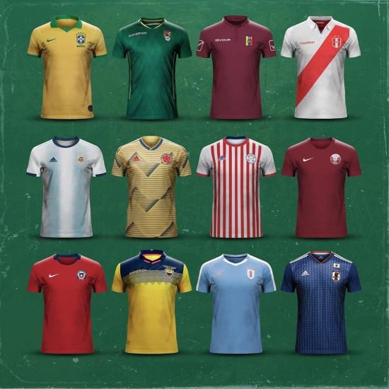 Camisetas copa america 2019