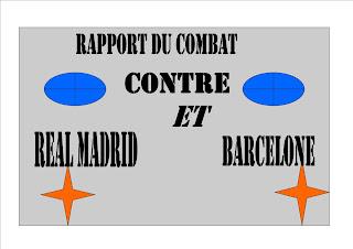 Rapport du combat real Madrid contre   Barcelone la liga