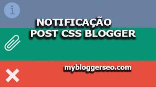 Anotações de bloco CSS para post Blogger