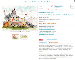 Tony Cook's page on Daily Paintworks