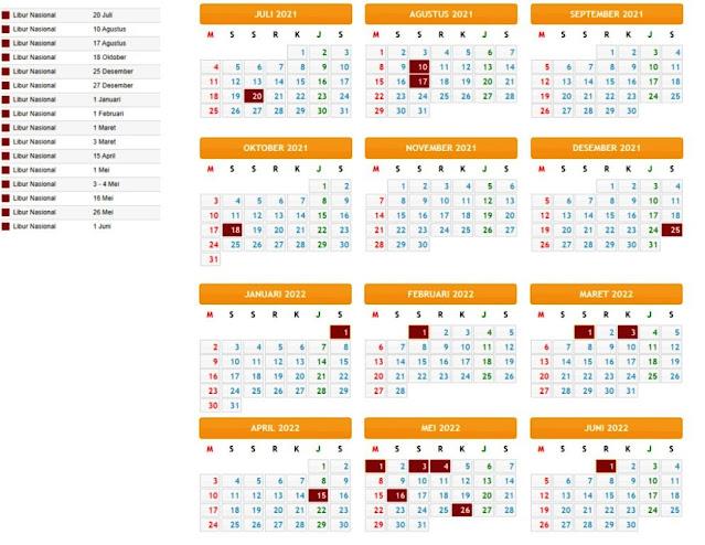 Terbaru Kalender Pendidikan Tahun Pelajaran 2021/2022 Provinsi Sumatera Selatan