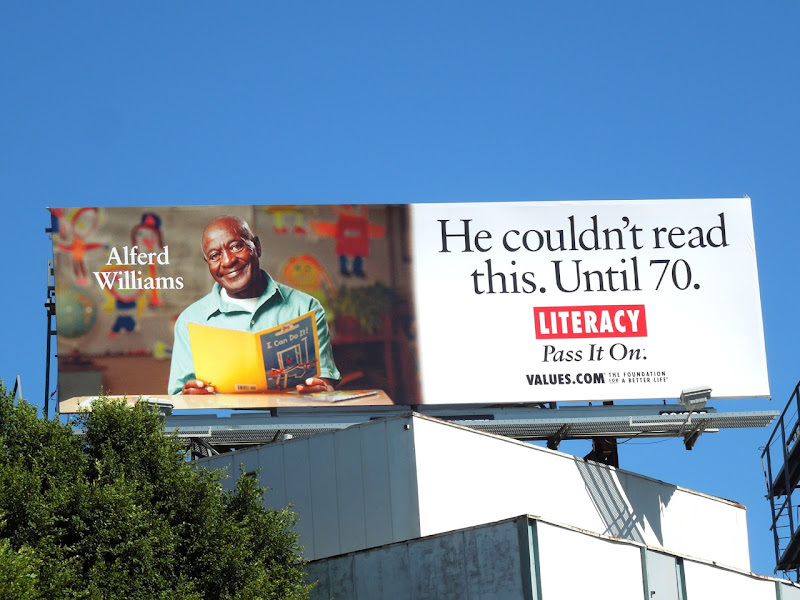Literacy values billboard